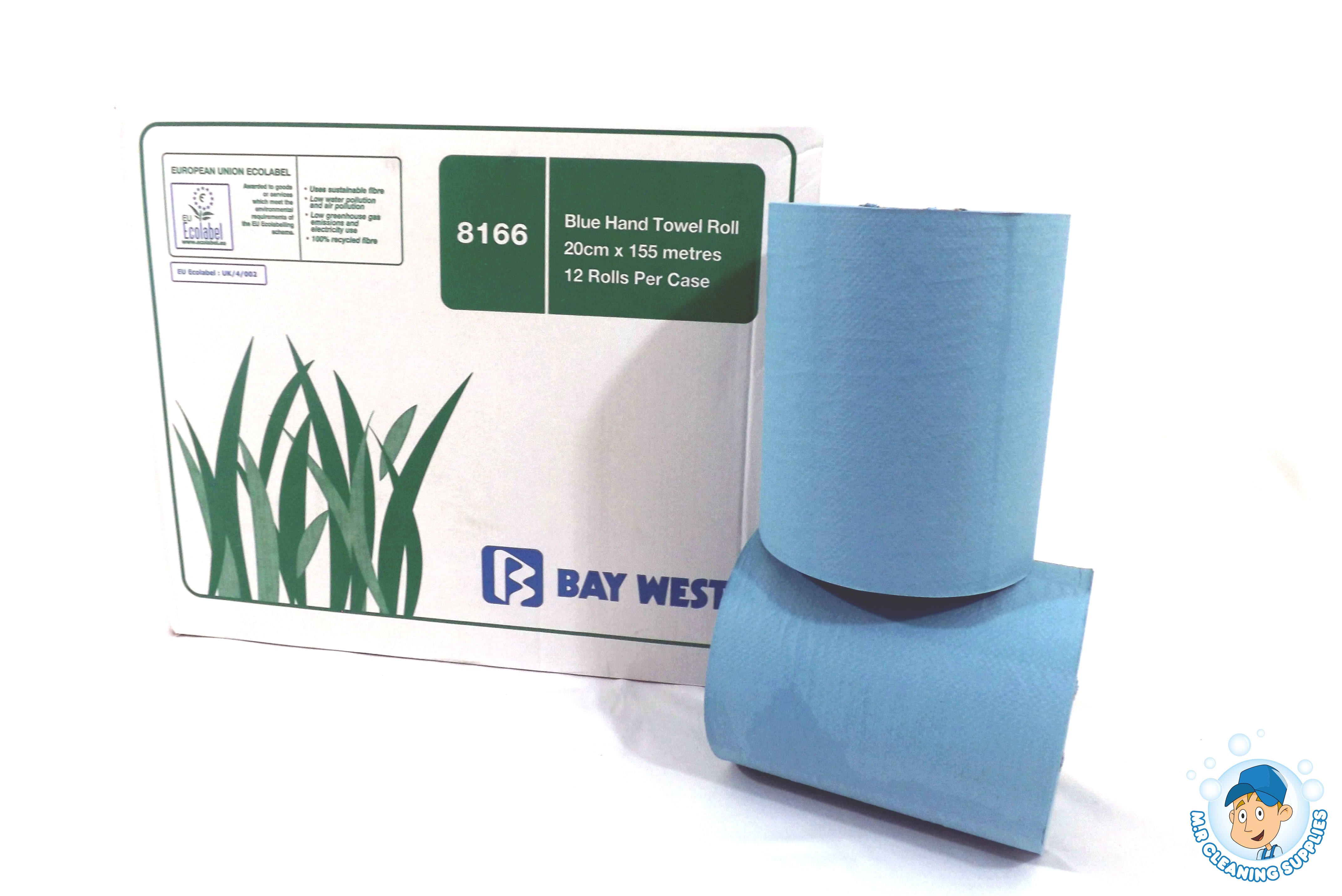 Baywest 8166 Blue Hand Towel 1 ply
