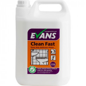 Evans Vanodine Clean Fast Heavy Duty Washroom Cleaner A010EEV2 1x5Litre