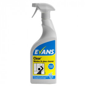 Evans Vanodine Clear ™ Window, Glass and Stainless Steel Cleaner A096AEV 1x750ml