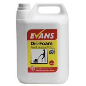 Evans Vanodine Dri-Foam Carpet and Upholstery Shampoo For Use With Carpet or Rotary Machines A023EEV2 1x5Litre