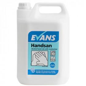 Evans Vanodine Handsan ™ 70% Alcohol Hand Rub with Moisturiser A051EEV2 1x5Litre