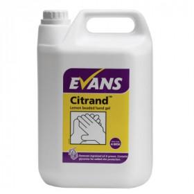 Evans vanodine Citrand ™ Citrus Beaded Hand Gel A085EEV2 1x5Litre