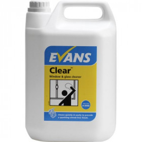 Evans Vanodine Clear ™ Window, Glass and Stainless Steel Cleaner  A096EEV2 1x5Litre
