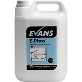Evans Vanodine E-Phos ™ Perfumed Cleaner Sanitiser A088EEV2 1x5Litre