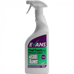 Evans Vanodine Final Touch ™ RTU Washroom Sanitiser A060AEV 1x750ml