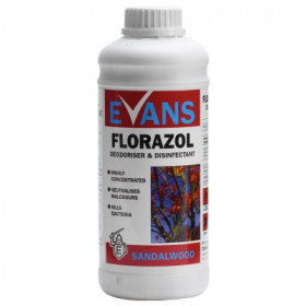 Evans Vanodine Florazol ® Sandalwood Concentrated Deodoriser A108AEV - Sandalwood 1x1Litre