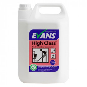 Evans Vanodine High Class ™ Neutral Hard Surface Cleaner A139EEV2 1x5Litre