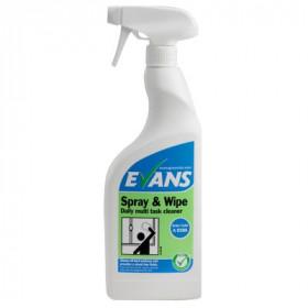Evans Vanodine Spray & Wipe RTU A028AEV Furniture Polish & Window Cleaner 1x750ml