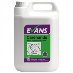 Evans Vanodine Carehands Barrier and Moisturising Hand Cream A045EEV2 1x5Litre
