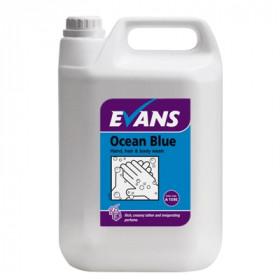 Evans Vanodine Ocean Blue Hand, Hair & Body Wash A159EEV2  1x5Litre