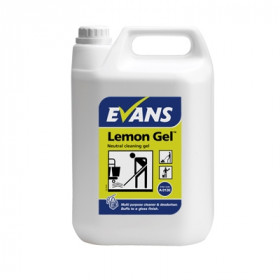 Evans Vanodine Lemon Gel Neutral Cleaning Gel A013EEV2 1x5Litre