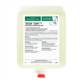Evans Vanodine Trigon ® Foam Plus Unperfumed, Bactericidal Hand Wash A063BEV 6x1LT