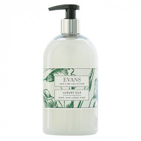 Evans Vanodine Luxury Silk Enriched Hand, Hair and Body Wash A194FEV 1x500ml