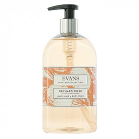 Evans Vanodine Orchard Fresh Refreshing Hand, Hair and Body Wash, Grapefruit, Mandarin & Apple A153FEV 1x500ml