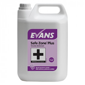 Evans Vanodine Safe Zone ™ Plus Virucidal Disinfectant A006EEV2   1x5Litre