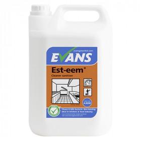 Evans Vanodine Est-eem ™  Unperfumed Cleaner Sanitiser A026EEV2 1x5Litre