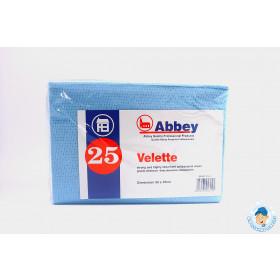 Velette Cloths (25 pack) (Various colours available)