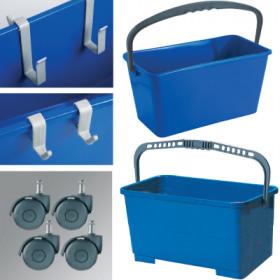 Window Cleaners Buckets, Hangers and Castors (Blue) (12 Litre & 24 Litre)