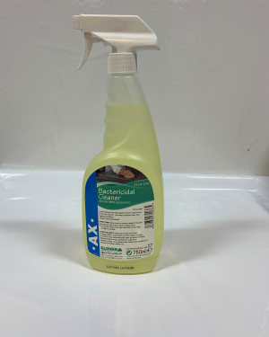 AX Bactericidal Cleaner Kills 99.999% of bacteria
