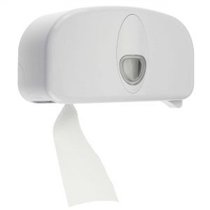 DOLPHIN EXCEL TWIN CORELESS TOILET ROLL DISPENSER