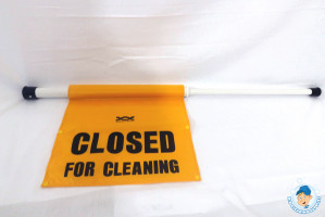 Hanging 'Closed For Cleaning' Door Safety Sign